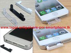 Bouchon cache anti-poussière dock lighting+jack iPhone 5 5s 5c couleur au choix