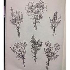 Wild flowers #flowers #wildflowers #bouquet #art #illustration #ink