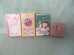 4 boxes of vintage birthday cake candles / unused, chunky, pastel / over 60 candles - Birthday Cake Blue Ideen Vintage Birthday Cakes, Glass Shadow Box, Cotton Gloves, Birthday Cake With Candles, Gold Picture Frames, Vintage Candles, Boxes, Pastel, Etsy