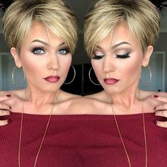 45 Best Short Haircuts in 2019 - Frisuren - Cheveux Short Haircuts 2017, Popular Short Hairstyles, Short Hairstyles For Women, Trending Hairstyles, Short Hair With Layers, Short Hair Cuts For Women, Short Hair Styles, Short Hair Long Fringe, Short Short Hair