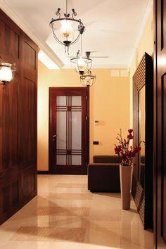 Image of interior, flower, mirror - 882996 Modern Interior, Interior Design, Hallway Lighting, Vestibule, Exterior Doors, Modern Classic, French Doors, Art Deco, Mirror
