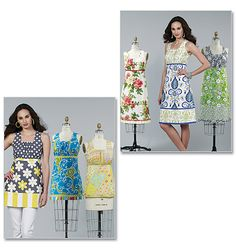 Butterick M6123 - love these color and pattern combos