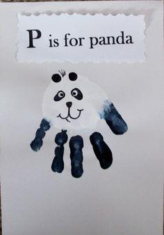 Panda Bear handprint