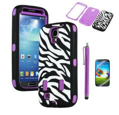 ARIA PURPLE ZEBRA HYBRID IMPACT COMBO HARD RUBBER CASE For Samsung Galaxy S4 S IV i9500+FILM+STYLUS, http://www.amazon.com/dp/B00DQVOCUO/ref=cm_sw_r_pi_awd_Ig0rsb15802Y8