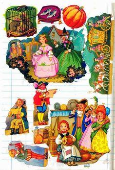 Cinderella Old Cards, Xmas Cards, Paper Scraps, Halloween Goodies, Nursery Rhymes, Free Items, Vintage Paper, Childhood Memories, Notebooks