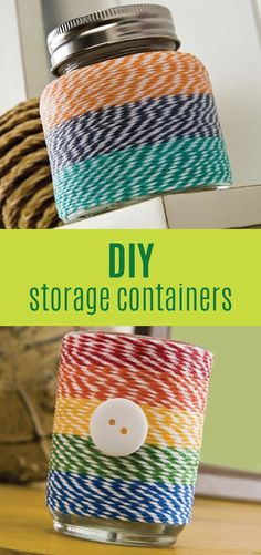 awesome Easy craft: DIY baker's twine votive and container