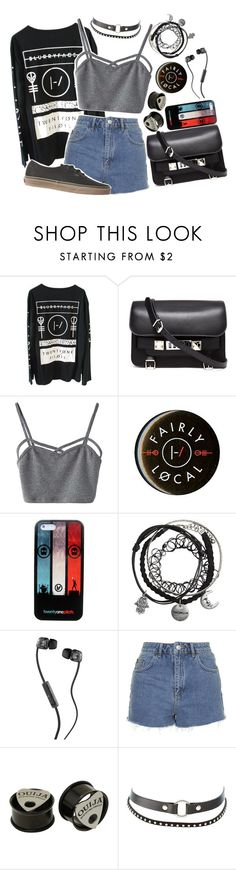 """//TWENTY ONE PILOTS CONCERT OUTFIT //"" by xkitten-pokerx ❤ liked on Polyvore featuring Proenza Schouler, WithChic, Skullcandy, Topshop, Charlotte Russe and Vans"