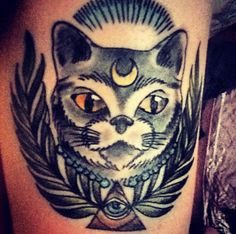 wiccan cat tattoo