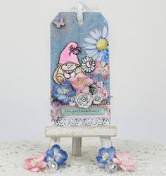 ScrapBerry's: Gorgeous Summer Joy tag made by Tracey Sabella with one of our My Little Star clear stamps.
