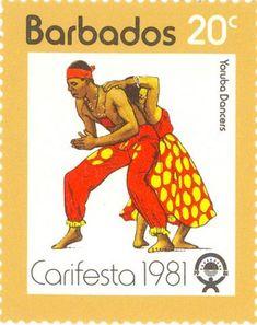 Yoruba dancers, Barbados