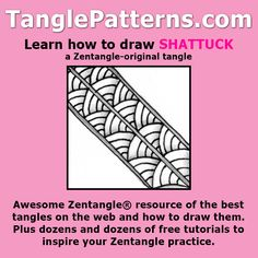 Step-by-step instructions to learn how to draw the Zentangle-original tangle pattern: Shattuck