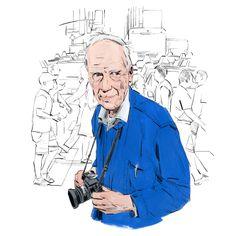 8 Illustrators Draw Street Style's Reigning King, Bill Cunningham
