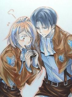 """So apparently my sister said that I look like Petra and my, """"boyfriend"""" looks like Levi. *facepalm* -HIPSTERHEART"""