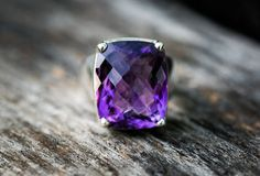 Amethyst Ring   Amethyst Ring  Sterling Silver Ring Size