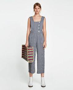 Bilde 1 fra JUMPSUIT MED GINGHAMRUTER fra Zara