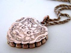c.1890 9K TRUE LOVE Vintage Antique Gold Locket by AntiqueLockets, $500.00