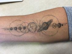 First tattoo! Solar system by Dr. Woo - Shamrock Social Club, West Hollywood.