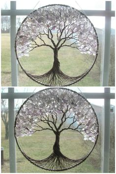 HUGE Amethyst Tree of Life Sun-catcher OOAK by HomeBabyCrafts