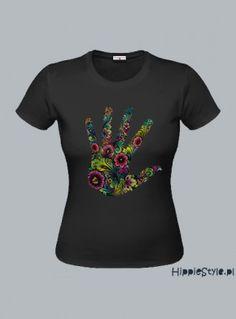 koszulka T-shirt czarny RĘKA