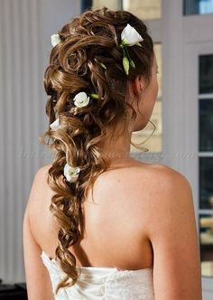 Gallery For > Half Up Wedding Hairstyles With Veil Back View