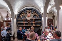 The Bremer Ratskeller restaurant is below the Bremen Town Hall in Germany