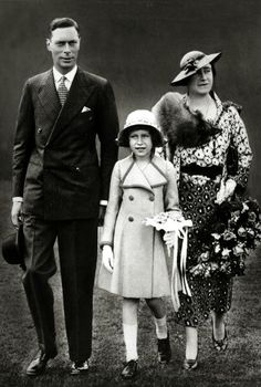 Princess Elizabeth and The Duchess of York, 1935