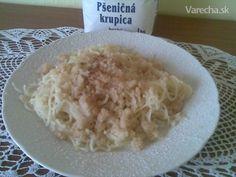 Krupicové slíže (fotorecept) Grains, Rice, Food, Basket, Essen, Meals, Seeds, Yemek, Laughter