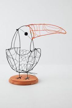 Wire Toucan #Anthropologie #PintoWin