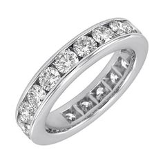 14k Gold Channel-Set Diamond Eternity Band (3 cttw, H-I Color, SI2 Clarity) $2,609.04 (51% OFF) + Free Shipping
