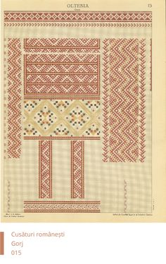 Gorj Decoration Blackwork Embroidery, Folk Embroidery, Embroidery Patterns, Sewing Patterns, Cross Stitch Borders, Cross Stitch Patterns, Textile Prints, Hama Beads, Fabric Crafts