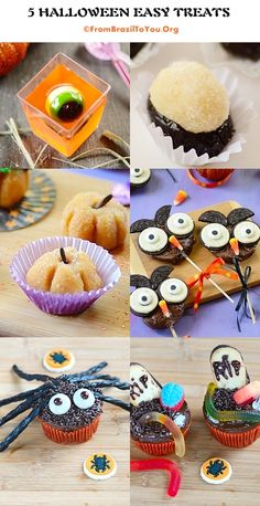 5 Halloween Easy Treats  #Halloween #treats #easy
