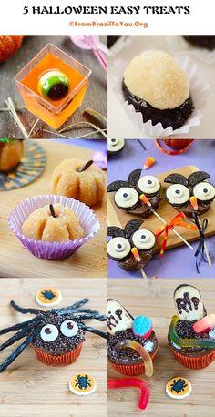 5 Halloween Easy Treats #Halloween #treats #easy