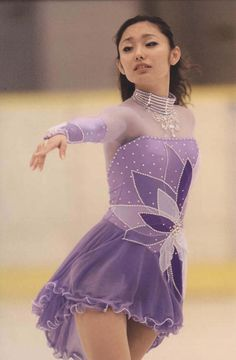 Miki Ando - Purple Figure Skating / Ice Skating dress inspiration for Sk8 Gr8 Designs