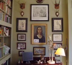 Make a small collection look more robust. Showcase in a three-column display with the art in descending order by size —pinned from One Kings Lane
