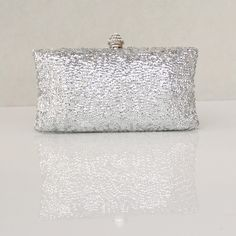 Fabulous Metallic Mini Box Clutches Mini,Crystal/Rhinestones,Sequins,Metal,