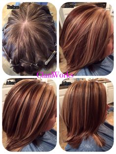 Pinwheel hair coloring with 2 shades by Anna Malave' stylist.