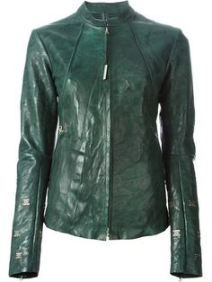 Shop Isaac Sellam Experience distressed leather jacket  in Raionul 4 from the world's best independent boutiques at farfetch.com. Over 1500 brands from 300 boutiques in one website.