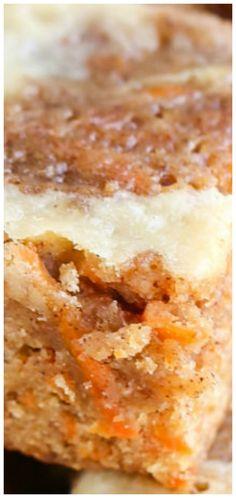 Carrot Cake Blondies with Cream Cheese Swirl Recipe