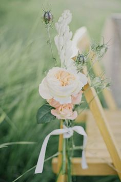 Beautiful aisle decoration (Crabapple Floral) - North Dakota shoot by Cassie Pope of Golden Veil Photography - via magnoliarouge