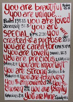 You are...