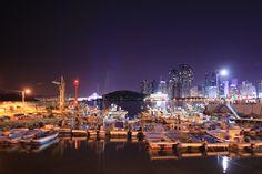 The lights of Haeundae beach, Busan