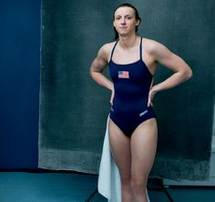"""As the Rio games approach, swimming sensation Katie Ledecky trains up to 30 hours per week. """"She doesn't have a lot of time on land,"""" her father says. Photographed by Annie Leibovitz, Vogue, April 2016 Katie Ledecky, Female Swimmers, Female Athletes, Women Athletes, Swimming Senior Pictures, Swimming Motivation, Olympic Swimming, Swim Training, Olympic Athletes"""