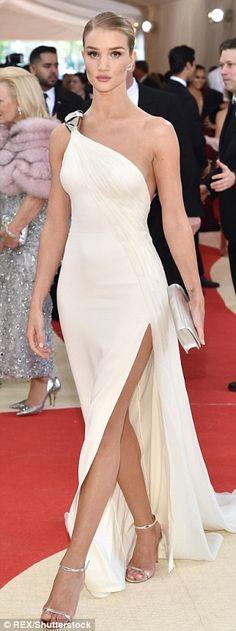 Supermodel chic: Rosie Huntington-Whiteley, Lily Aldridge and Doutzen Kroes looked fantast...