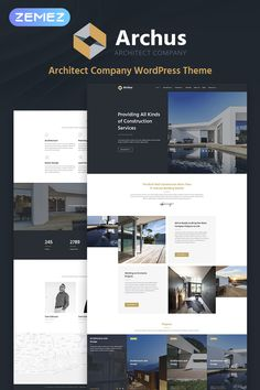 This fully responsive Architect Company WordPress Theme will help you to create a fully-functional, fresh and modern website for your construction business. Construction Business, Construction Services, Construction Design, Construction Birthday, Company Profile Design, Web Design Company, Web Design Tips, Web Design Inspiration, Wordpress Theme