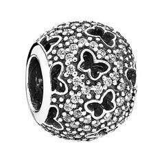PANDORA 'Fluttering Butterflies' Bead Charm (4.470 RUB) ❤ liked on Polyvore featuring jewelry, pendants, charm jewelry, butterfly charm, beads & charms, butterfly jewelry and charm pendant