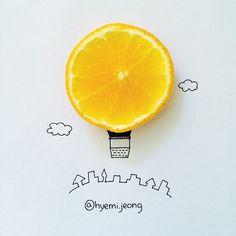 #airballoon #balloon #orange #village #cloud #fruit #art #drawing #hobby #illustration #cute #sketch #기구 #열기구 #풍선 #오렌지 #과일 #구름 #마을 #미술 #손그림 #일러스트 #스케치