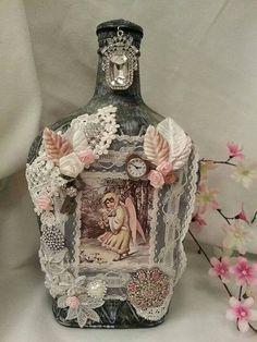 Embellished & Adorned HUGE 3 liter Crown Royal by TheBirchCottage