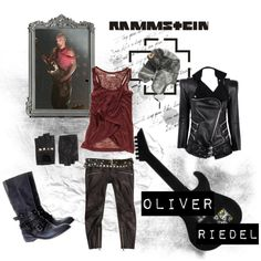 Look inspirado no Oliver Riedel do Rammstein.