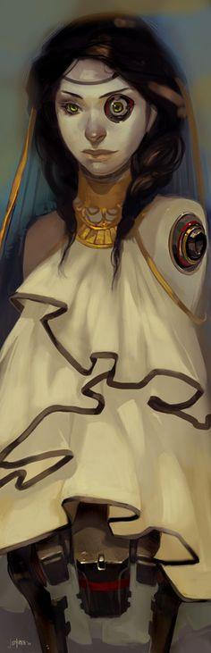JEN ZEE ART!: Bedtime doodle...Desdemona!
