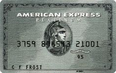 """American Express Platinum Card"" by artist/embroiderer Inge Jacobsen"